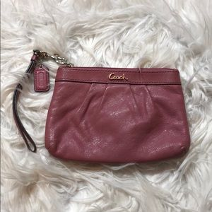 Coach Dusty Rose Pink Leather Wristlet